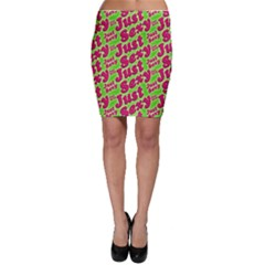 Just Sexy Quote Typographic Pattern Bodycon Skirts