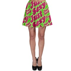 Just Sexy Quote Typographic Pattern Skater Skirts