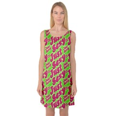 Just Sexy Quote Typographic Pattern Sleeveless Satin Nightdresses