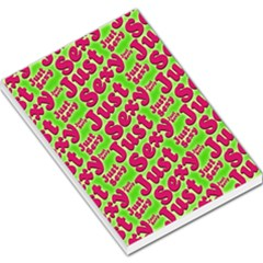 Just Sexy Quote Typographic Pattern Large Memo Pads