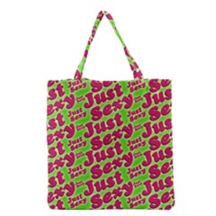 Just Sexy Quote Typographic Pattern Grocery Tote Bags
