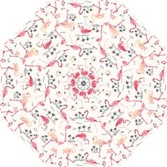 Flamingo Pattern Straight Umbrellas