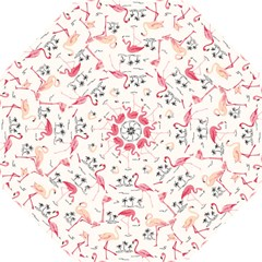 Flamingo Pattern Golf Umbrellas