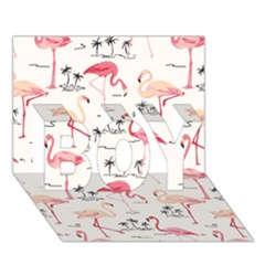Flamingo Pattern BOY 3D Greeting Card (7x5)