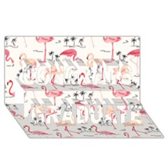 Flamingo Pattern Congrats Graduate 3d Greeting Card (8x4)