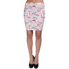 Flamingo Pattern Bodycon Skirts