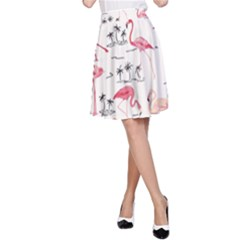 Flamingo Pattern A-Line Skirts