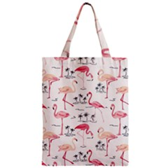 Flamingo Pattern Zipper Classic Tote Bags