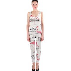 Flamingo Pattern OnePiece Catsuits