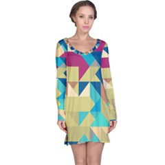 Scattered pieces in retro colors nightdress