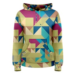 Scattered pieces in retro colors Pullover Hoodie