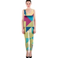 Scattered pieces in retro colors OnePiece Catsuit