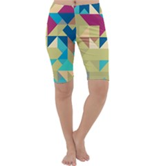 Scattered Pieces In Retro Colors Cropped Leggings