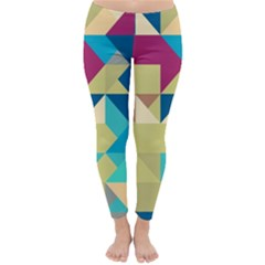 Scattered Pieces In Retro Colors Winter Leggings