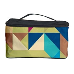 Scattered Pieces In Retro Colors Cosmetic Storage Case