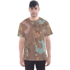 Paint Strokes In Retro Colors Men s Sport Mesh Tee