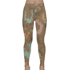 Paint strokes in retro colors Yoga Leggings