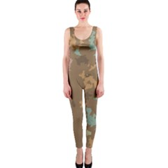 Paint strokes in retro colors OnePiece Catsuit