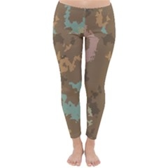 Paint strokes in retro colors Winter Leggings