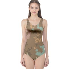 Paint Strokes In Retro Colors Women s One Piece Swimsuit