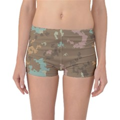Paint strokes in retro colors Boyleg Bikini Bottoms
