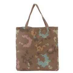 Paint Strokes In Retro Colors Grocery Tote Bag