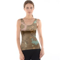 Paint strokes in retro colors Tank Top