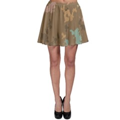 Paint Strokes In Retro Colors Skater Skirt