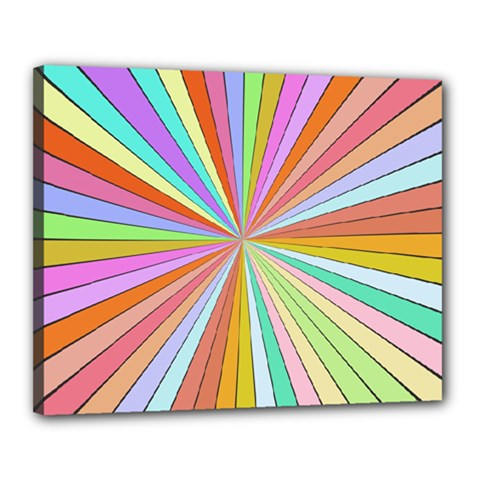 Colorful Beams Canvas 20  X 16  (stretched)