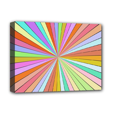 Colorful Beams Deluxe Canvas 16  X 12  (stretched)