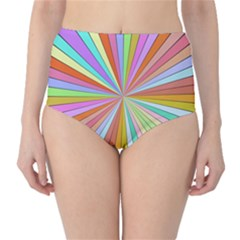 Colorful Beams High Waist Bikini Bottoms