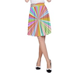 Colorful beams A-line Skirt