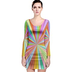 Colorful beams Long Sleeve Bodycon Dress
