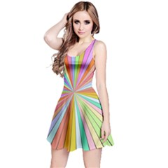Colorful Beams Sleeveless Dress