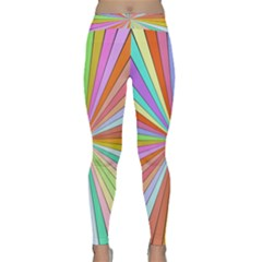 Colorful beams Yoga Leggings