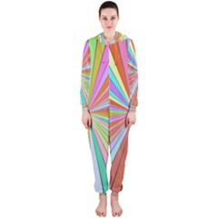 Colorful Beams Hooded Onepiece Jumpsuit