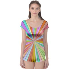 Colorful beams Short Sleeve Leotard