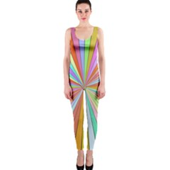 Colorful beams OnePiece Catsuit