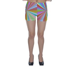 Colorful beams Skinny Shorts
