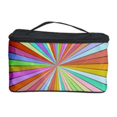 Colorful beams Cosmetic Storage Case