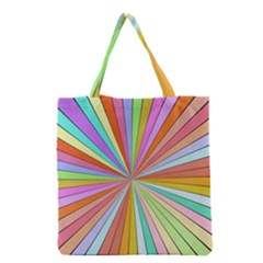 Colorful beams Grocery Tote Bag