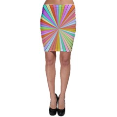 Colorful beams Bodycon Skirt