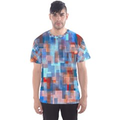 Blue orange watercolors Men s Sport Mesh Tee