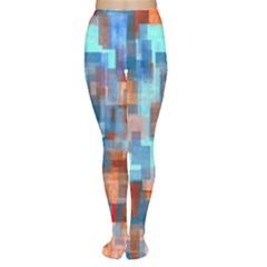 Blue orange watercolors Tights