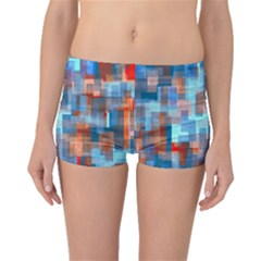 Blue Orange Watercolors Boyleg Bikini Bottoms