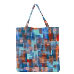 Blue orange watercolors Grocery Tote Bag