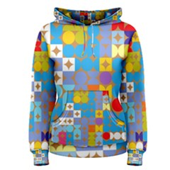 Circles And Rhombus Pattern Pullover Hoodie