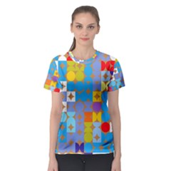Circles and rhombus pattern Women s Sport Mesh Tee