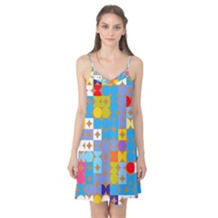 Circles and rhombus pattern Camis Nightgown