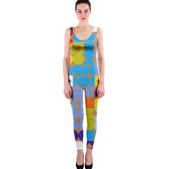 Circles and rhombus pattern OnePiece Catsuit